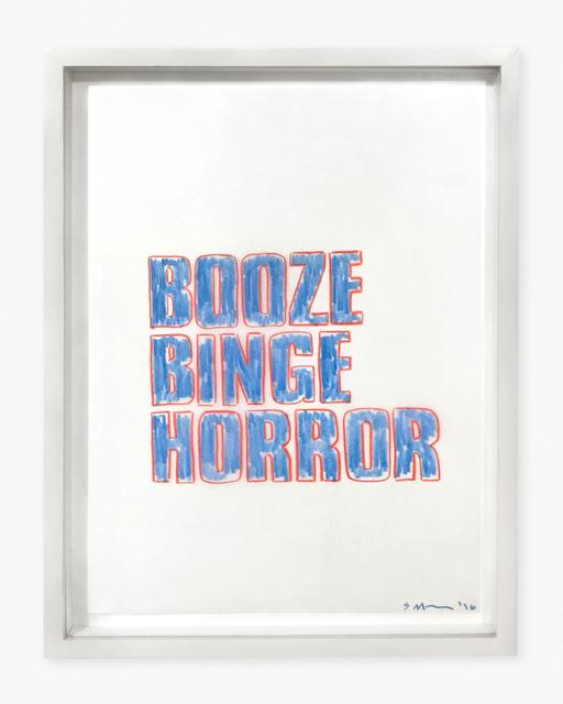 , 'Booze Binge Horror,' 1996, The Mayor Gallery