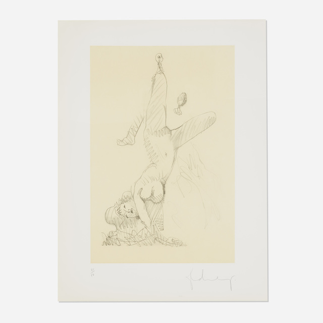 Claes Oldenburg, 'Woman Hanging in Imitation of the Soft Fan (Edition A)', 1976, Wright