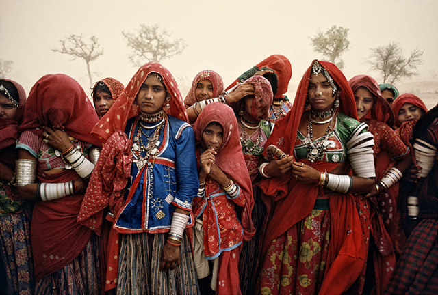 Steve McCurry, 'Cluster of Women in Dust Storm, India,' 1983, Sundaram Tagore Gallery