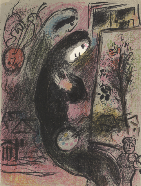 Marc Chagall, 'Inspired', 1963, Print, Stone Lithograph, ArtWise