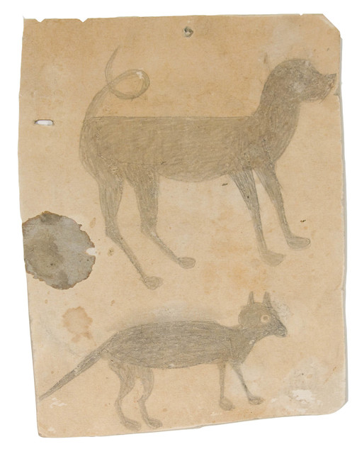 Bill Traylor, 'Hound Dog and Cat (Early)', ca. 1939, Betty Cuningham