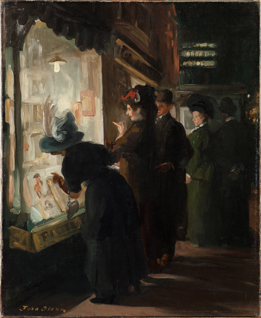 , 'Picture Shop Window,' 1907, Newark Museum