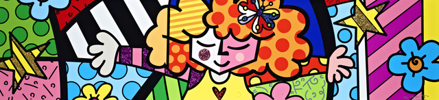 Romero Britto, 'Sweet Hug | hand embellished', 2019, Mixed Media, Hand-embellished boxed canvas with diamond dust, Castle Fine Art