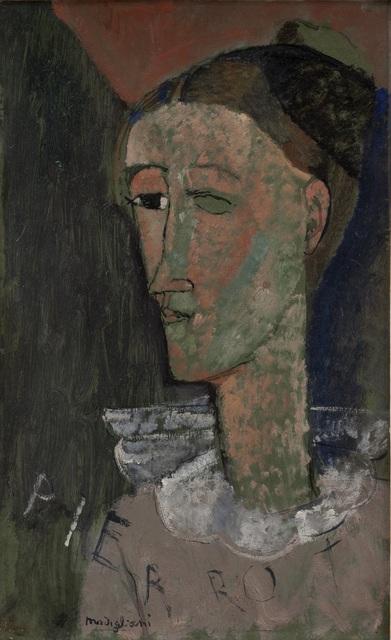 , 'Self-Portrait as Pierrot,' 1915, Tate Modern