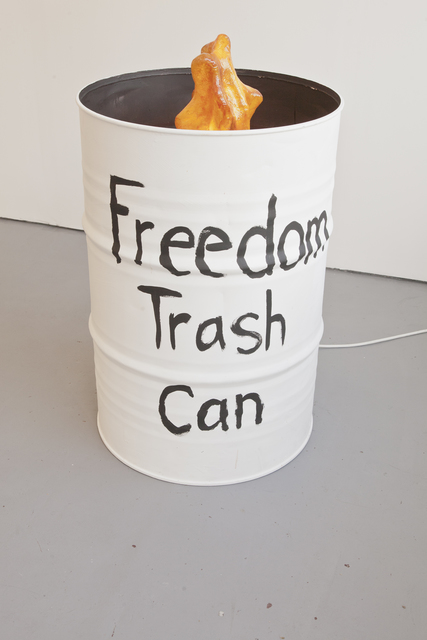 Anetta Mona Chisa & Lucia Tkáčová, 'Freedom Trash Can', 2013, Sculpture, Steel, resin, lamps, waterside contemporary