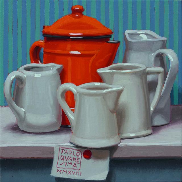 , 'Abbastanza caffè, molto latte,' 2018, Galleria Punto Sull'Arte