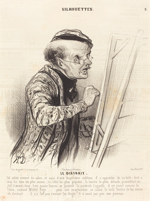 Honoré Daumier, 'Le Distrait', 1841, National Gallery of Art, Washington, D.C.