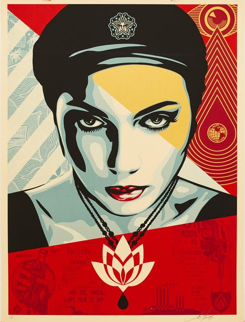 Shepard Fairey (OBEY), 'Oil Lotus Woman', 2018, Sping/Break Benefit Auction