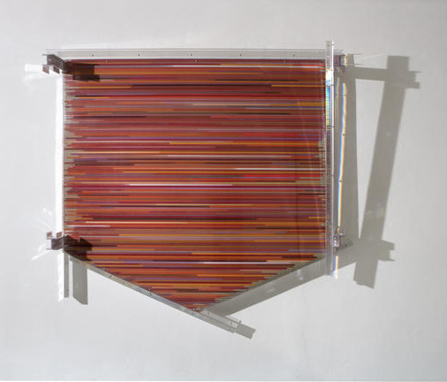 , 'The polychromesandsessions (# 2, red silica with constructions tones),' 2010, Galleria Continua
