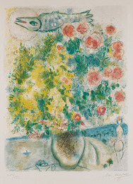 Roses et mimosas, from Nice et la Côte d'Azur (Roses and Mimosas, from Nice and the French Riviera), by Charles Sorlier
