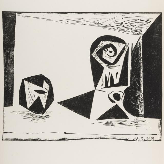 Pablo Picasso, 'Composition au verre à pied (Bloch 431; Mourlot 77)', 1947, Print, Lithograph, Forum Auctions