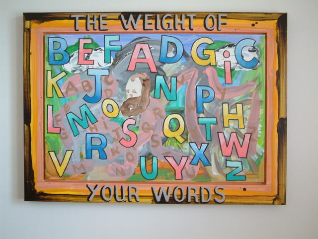, 'The Weight of Your Words,' 2018, Marc Straus