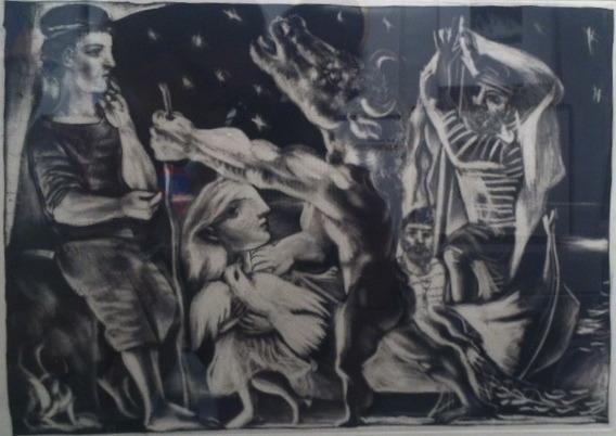 , 'Minotaure aveugle guide par une fillette dans la nuit,' 1934, Ruth Ziegler Fine Arts Ltd.