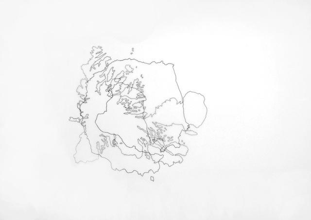, 'Estreito de Gibraltar encontra Istmo do Panamá (Da série Geografia de encontros) / Strait of Gibraltar meets Isthmus of Panama (from the series Geography of the encounters),' 2011, Silvia Cintra + Box 4