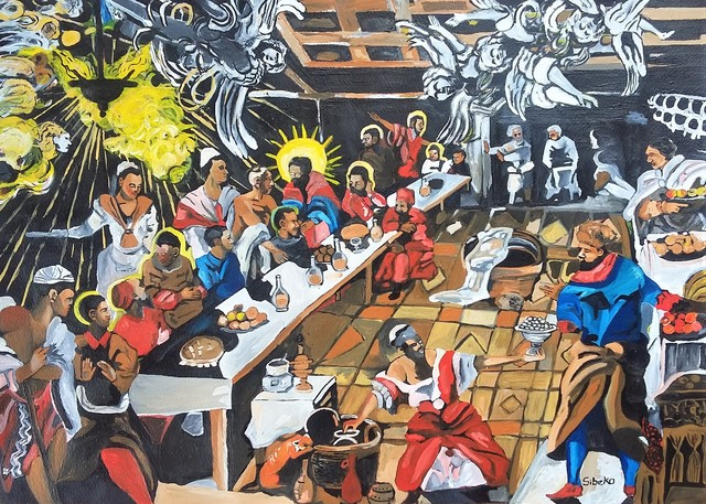 , 'African Renaissance series - re imagining The Last Supper by Tintoretto,' 2019, Yebo Art Gallery