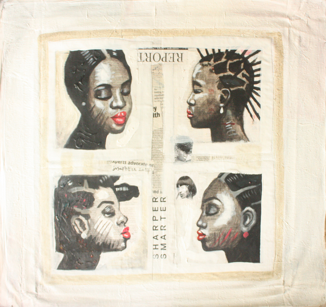 , 'Hair Salon,' 2014, Society of Nigerian Artists