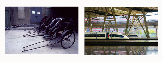 , '(Left) Rickshaw, (Right) Bullet Train,' 1980-2014, Fowler Museum at UCLA