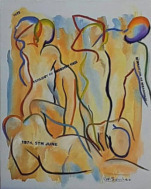 Luz Sánchez, 'Tomando Conciencia II', 2019, Painting, Mixed media on canvas, ACCS Visual Arts