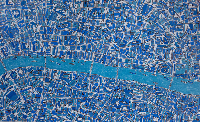 , 'London Cobalt Blues,' 2019, Rebecca Hossack Art Gallery