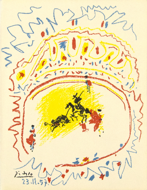 Pablo Picasso, 'La Petite Corrida', 1957, Print, Original lithograph in colors, Heather James Fine Art Gallery Auction