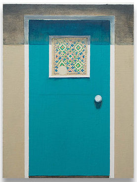 Francesca Reyes, 'Door #20', 2018, Painting, Oil, acrylic, gouache, & paper on panel, Deep Space Gallery