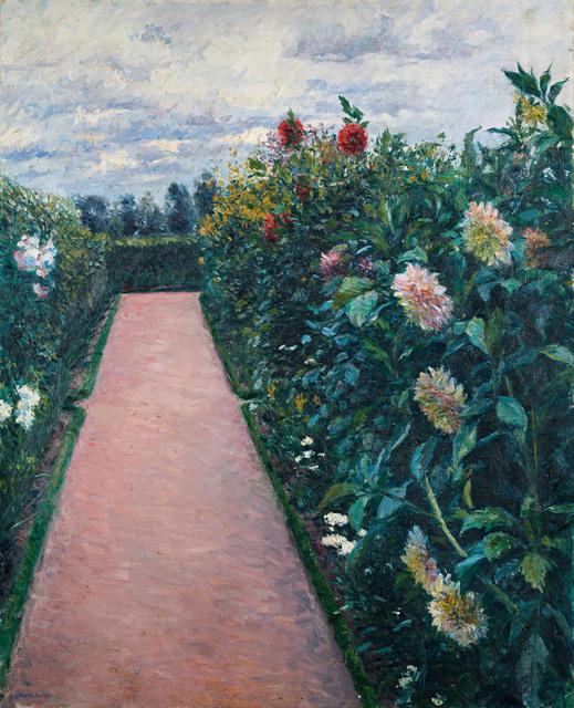 , 'Garden Path with Dahlias in Petit Gennevilliers,' 1890-1891, Museo Thyssen-Bornemisza