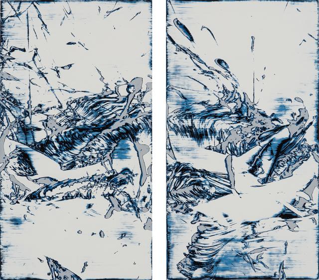 , 'Lagoon (diptych),' 2015, Tim Klingender Fine Art