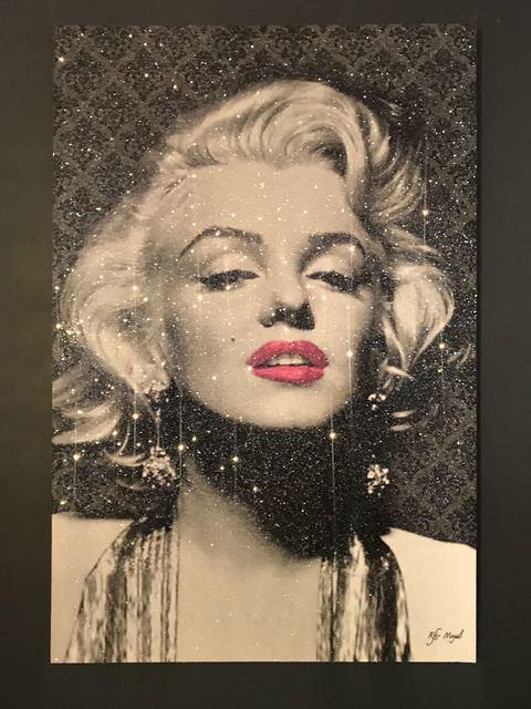 , 'Marilyn Birthday hot pink lips- Patterns ,' , Eden Fine Art