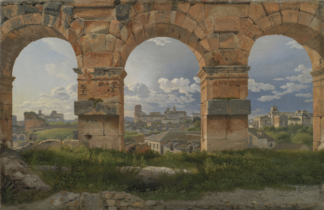 , 'A View through Three Arches of the Third Storey of the Colosseum,' 1815, Statens Museum for Kunst