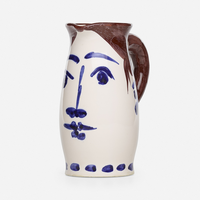 Pablo Picasso, 'Visage tankard', 1959, Textile Arts, Glazed earthenware decorated with oxides, Rago/Wright