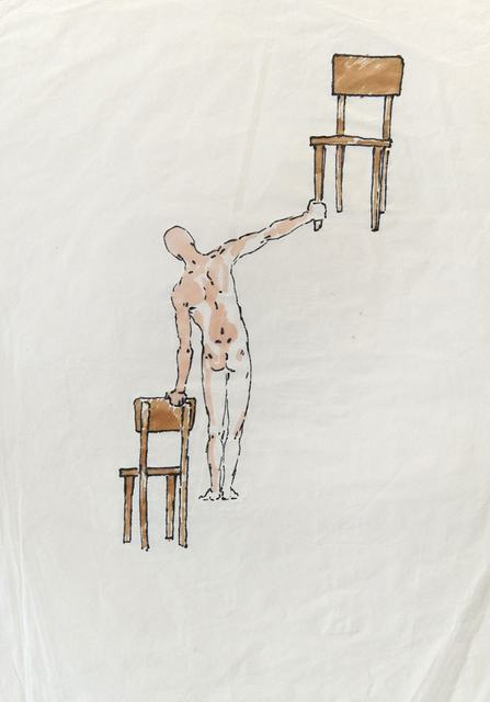 Antonio Hin-yeung Mak, 'Untitled (Man and two chairs)', ca. 1975-1990, Blindspot Gallery