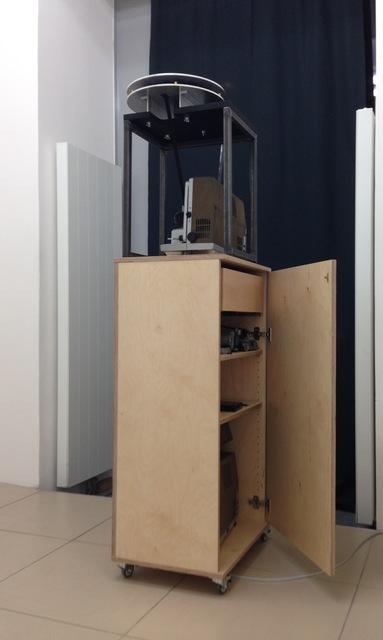 Philipp Fleischmann, 'Untitled (Generali Foundation Vienna)', 2015, Installation, 16mm Film + Pedestal-Archive, wood, steel., One Work Gallery