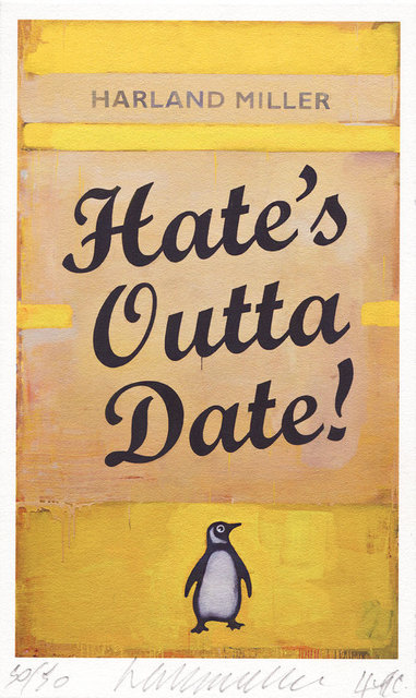 Harland Miller, 'Hate's Outta date', 2017, Reem Gallery