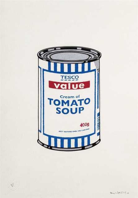Banksy, 'Soup Can', Tate Ward Auctions