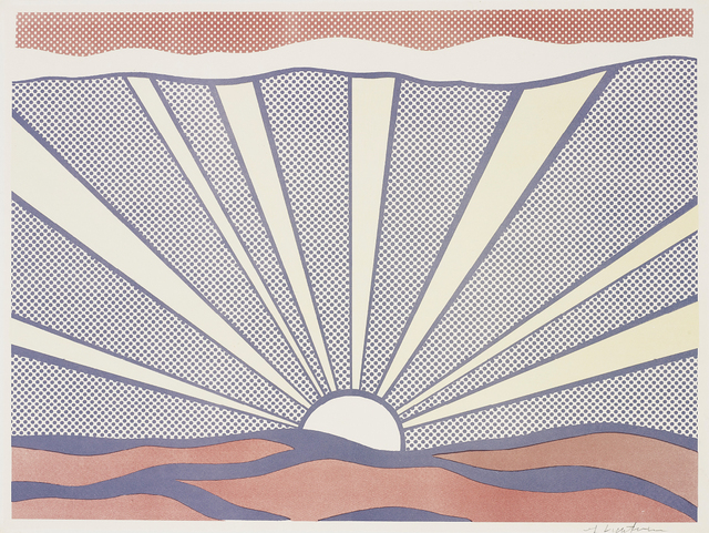 Roy Lichtenstein, 'Sunrise', 1965, Print, Offset lithograph in colours, on lightweight wove paper, with full margins., Phillips