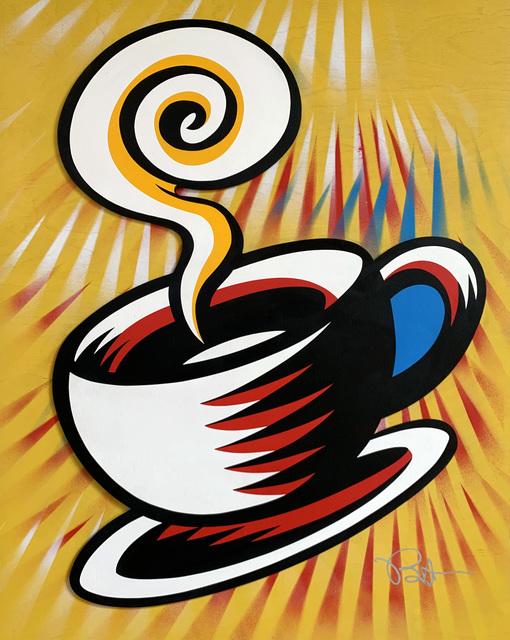 Burton Morris, 'Friends - Coffee Cup (Yellow 1)', 2019, Taglialatella Galleries