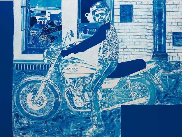, 'Autoritratto in Moto con Matisse e Braque (Neptunus),' 2017, M77 Gallery