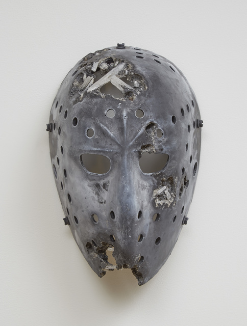 , 'Volcanic Ash and Selenite Hockey Mask,' 2016, Pippy Houldsworth Gallery