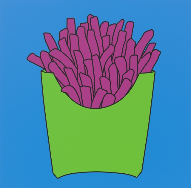 Michael Craig-Martin, 'Untitled (chips blue)', 2016, Painting, Acrylic on aluminium, Galerie Andres Thalmann