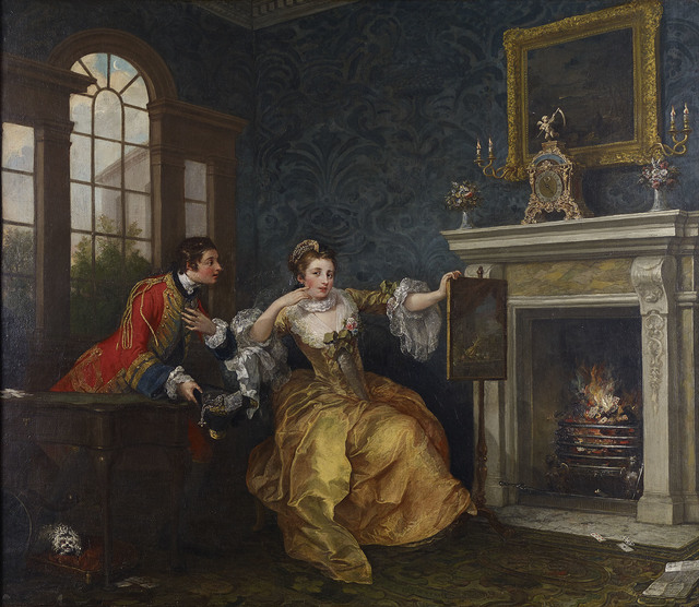 , 'The Lady's Last Stake,,' 1759, Kimbell Art Museum