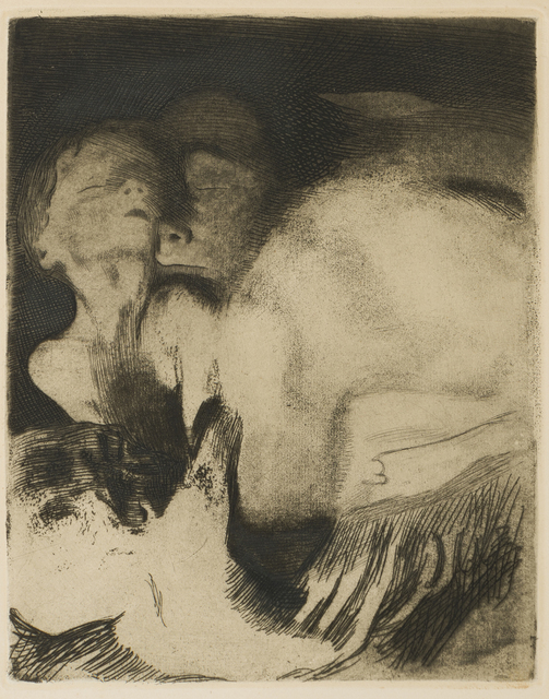 Käthe Kollwitz, 'Tod und Frau um Das Kind Ringend', Print, Etching on paper under glass, John Moran Auctioneers