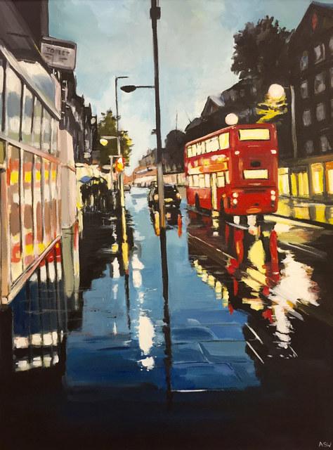 , 'London Bus in the Rain,' 2013, Ascot Studios