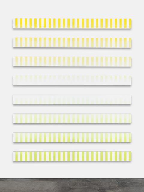 Claudia Comte, 'Fluide Glacial, Stripes B (Cocktail paintings)', 2014, Swiss Institute Benefit Auction