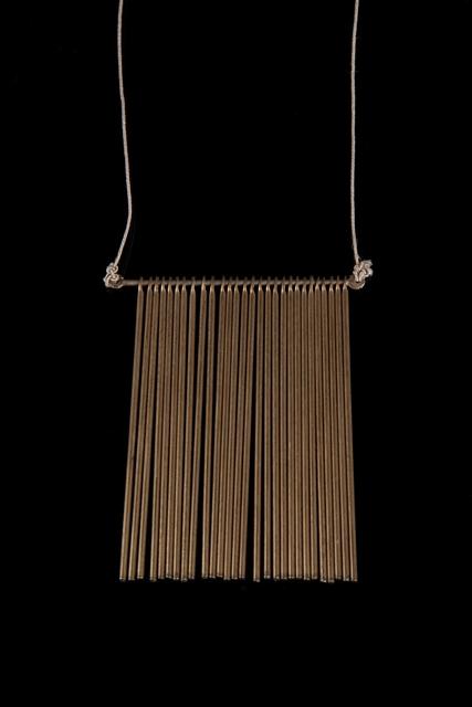 , 'Unique fringe pendant with 28 rods,' ca. 1970s, Didier Ltd.