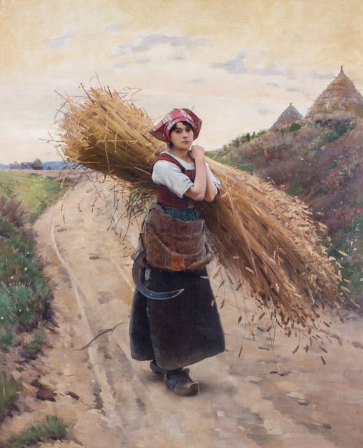 , 'The little harvester,' ca. 1900, Ottocento