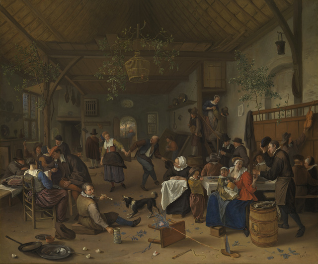 , 'Merrymaking in a Tavern with a Couple Dancing,' 1670, Royal Collection Trust