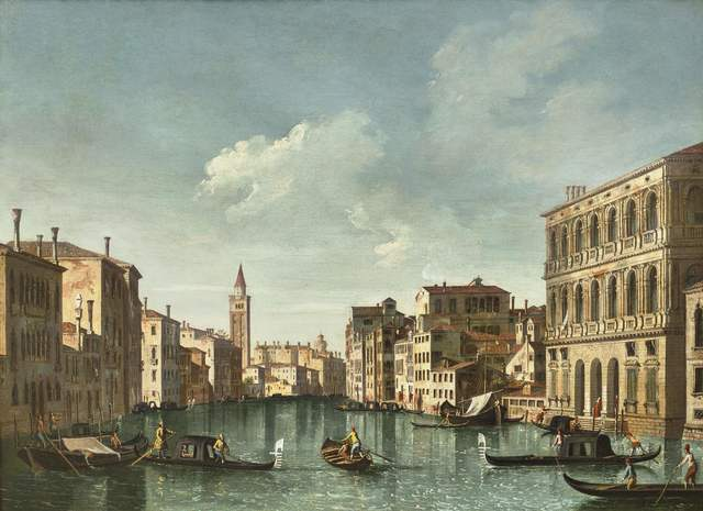 , 'Grand Canal from the Palazzo Corner at the Palazzo Contarini,' 1750-1752, Galerie Florence de Voldère