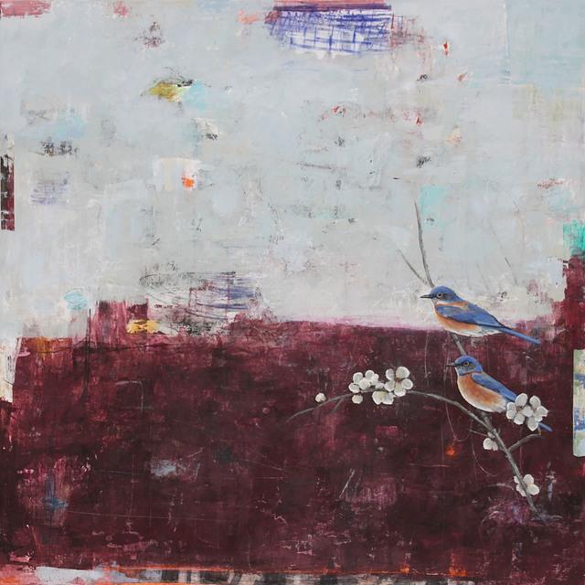 , 'Spring Night's Moon (Western Bluebirds),' 2017, Patricia Rovzar Gallery