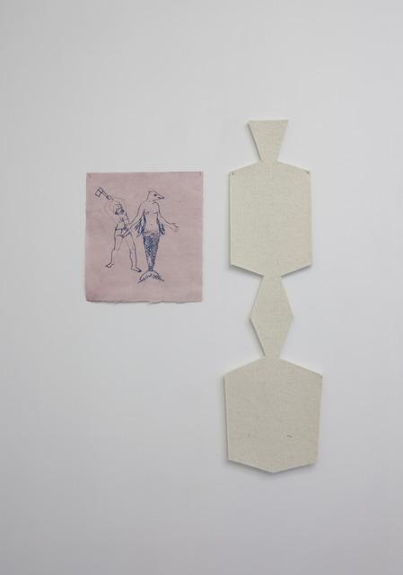 , 'Mulher peixe e peixe,' 2014, Galerie Emmanuel Hervé