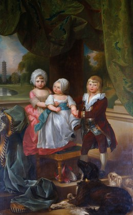 , 'Prince Adolphus, later Duke of Cambridge, with Princess Mary and Princess Sophia,' 1778, Royal Collection Trust